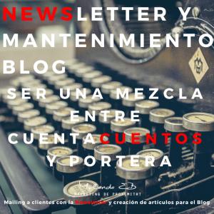 Newsletter y Mantenimiento Blog